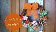 Jarní dekorace - věnec na dveře