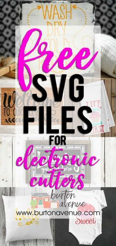 Free SVG Files for Silhouette, Cricut, and other electronic cuttters.
