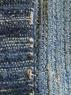 Weaving, Ткачество. Sakiori and Sashiko.
