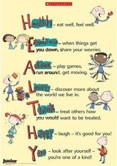 Lovely poster from an old Junior Ed PLUS. Great for displaying on your whiteboar. Lovely poster from an old Junior Ed PLUS. Great for displaying on your whiteboard or. if you& got a big enough printer printing out too! Health Class, Health Lessons, Kids Health, Health Education, Children Health, Hygiene Lessons, Physical Education, Health Fair, School Health