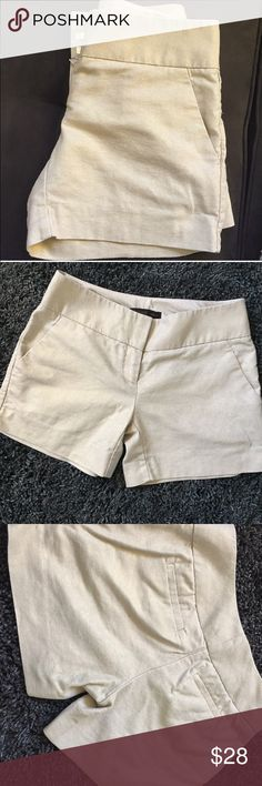 ✨Gold Khaki Shorts✨ Cute chic shorts by The Limited. Cassidy fit. It's a khaki color with gold sheen thread to it not overly done, just beautiful. They don't fit me anymore so someone take these beauties!!! The Limited Shorts