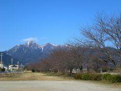 菰野町菰野地区 桜並木と御在所岳、国見岳 平成25年3月4日撮影
