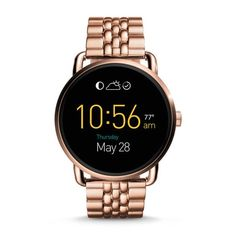 Damen Smartwatch Q Wander - Digitales Display - Touchscreen - Edelstahl…