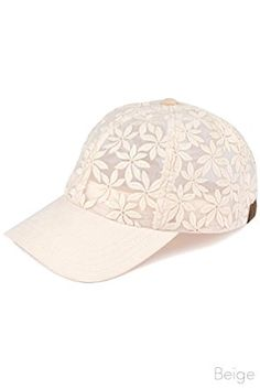 ScarvesMe C.C Floral Lace See Through Adjustable Baseball Cap Review 914142a8a35a
