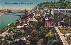Budapest látképe a Gellért heggyel Budapest Hungary, Old Photos, Paris Skyline, The Past, Illustrations, Mansions, History, Country, Travel