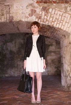 The Clothes Horse:  H jacket  Family Affairs blouse & skirt  Wolford tights  vintage shoes