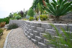 Get inspired by the Keystone Retaining Wall Systems photo gallery to spark your imagination with the standard for excellence in the segmental industry. Keystone Wall, Keystone Retaining Wall, Retaining Wall Blocks, Landscape Walls, Photo Galleries, Sidewalk, Gallery, Town House, Houses