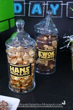 Hans Rolos and Ewok Treats at a Star Wars party #starwars #treats