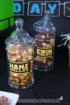 Hans Rolos and Ewok Treats at a Star Wars party #starwars #treats