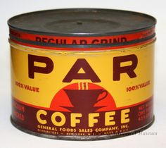 Can of Par Coffee from the 1940s. (Hoboken Historical Museum)