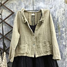 Raphael Heavy French Linen Jacket Natural