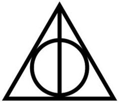 Harry Potter deathly hallows symbol made from outdoor adhesive vinyl. Description from etsy.com. I searched for this on bing.com/images