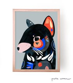 This is a fine art print from the original 'Tasmanian Devil' Artwork by Pete Cromer. Available in the following sizes and editions...