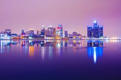Detroit Skyline by David Bonyun - 500px