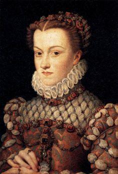 François Clouet, Elisabeth of Austria, Queen of France, c.1571