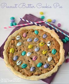 Peanut Butter Cookie Pie by www.crazyforcrust.com | A pie that's a peanut butter cookie! #pie #PiDayPieParty