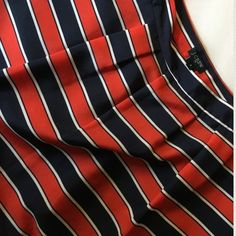 "J. Crew Gondola skirt The perfect skirt for spring and summer.  Nautical look. easy to dress up or down.  Poly. Lined.  Approximately 18"" in length.  Sits at waist.  Side zip.  Pleated.  From Factory.  Tiny pull as pictured J. Crew Skirts"