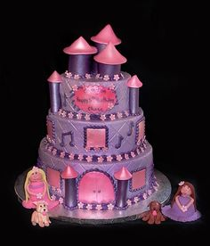 Beautiful little girls birthday cake made by my vovo For the