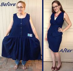 Refashion Runway Week 3: Peplum - Before & After by Carissa Knits