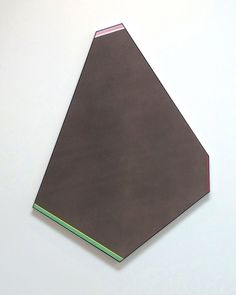 kenneth noland Angle of the Night, 1978 acrylic on shaped canvas 75 x 50 inches via Paul Kasmin