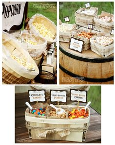 Popcorn bar. This I happening! To cute!!