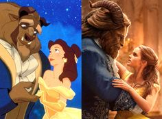 Live-Action vs. Animation from Beauty and the Beast Movie Stills  As you can see, the similarities are uncanny!
