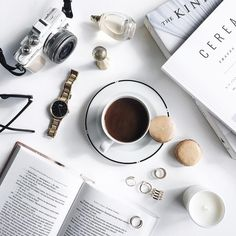 #flatlay #coffee #rings #white #vogue #dior #olympus