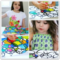 Easy Circle Painting Art!  So easy and they turn out gorgeous!