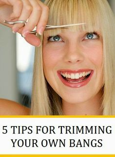 5 Tips For Trimming Your Own Bangs - If you can arm yourself with the right tools, it's pretty easy to avoid the hairdresser every two weeks when your bangs start to cloud your vision. Here's our guide to getting a salon-worthy bang trim every time. Beauty Tutorials, Beauty Hacks, Diy Haircut, Hair Scalp, Beauty Guide, Hair Today, Hair Designs, Diy Hairstyles, Hair Hacks