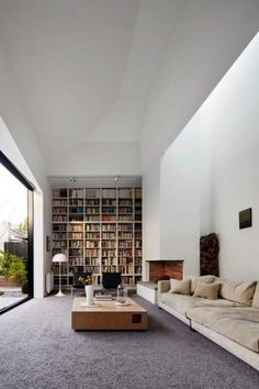 Sitting and reading books in a cozy home library can be an alternative to refreshing our minds. You can decorate your private library with the Scandinavian home library ideas. There are many ideas you can try to create your favorite… Continue Reading → Home Library Rooms, Home Library Design, Home Libraries, Loft Design, Design Design, Interior Design Inspiration, Home Decor Inspiration, Home Interior Design, Interior Architecture