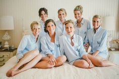 cute getting ready button-ups for the bridesmaids