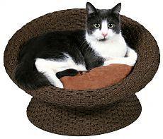 плетеные диванчики для кошек