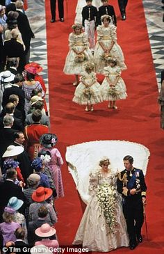 Prince Charles of Wales and lady Diana Spencer
