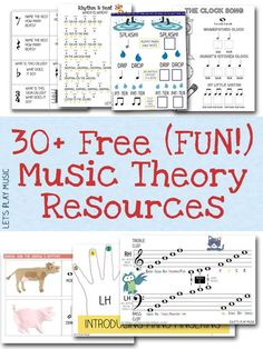 A huge collection of fun free music theory resources and worksheets for…