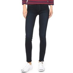 Paige Denim Transcend Hoxton Ultra Skinny Jeans ($185) ❤ liked on Polyvore featuring jeans, mona, dark wash jeans, stretch skinny jeans, zipper jeans, skinny jeans and faded skinny jeans