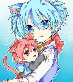 Karma Akabane x Nagisa Shiota [Assassination Classroom] Anime Meme, Cute Anime Character, Cute Characters, Rog Fairy Tail, Anime Siblings, Nagisa And Karma, Nagisa Shiota, Cute Chibi, Neko