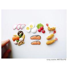 お弁当アイシングクッキー #icingcookies #アイシングクッキー #クッキー #cookies #decoratedcookies…