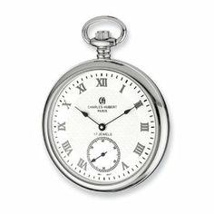 Charles Hubert Stnlss Stl Open Face White Dial Pocket Watch Jewelry Adviser Charles Hubert Watches. $237.64