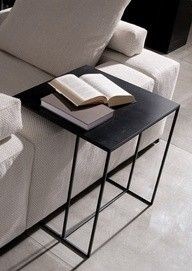 side table - refined matt black metal - does anyone know the designer make please?