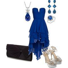 Royal Blue Dress - Polyvore