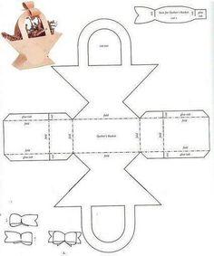 Caja en forma de canasta