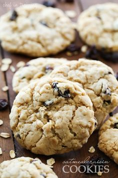 Oatmeal Raisin Cookies by Chef In Training