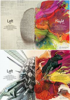 "So beautiful. but it seems extravagant ad for right brain... Mercedes-Benz ""Left Brain Right Brain"" Ad"