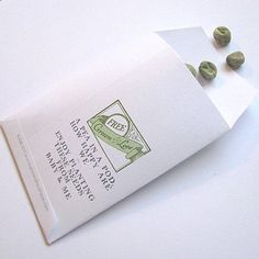 Pea in a Pod Baby Shower Favors. , via Etsy.