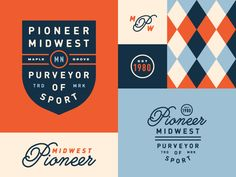 Pioneer Midwest by Levi Lowell #Design Popular #Dribbble #shots