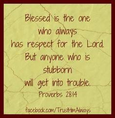 Proverbs 28:14
