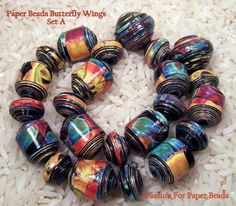 Paper Beads Butterfly Wings Set A by PassionForPaperBeads on Etsy, ♥