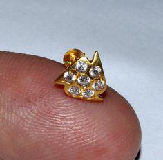 22kt Solid Yellow Gold & American Diamond by gemsnjewelryworld