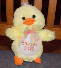 "6"" GOFFA INTERNATIONAL Easter 2015 Yellow PLUSH Duck Chick #Goffa"