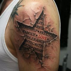 Cool ripped skin tat.